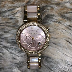 Michael Kors Gold and Pink Watch